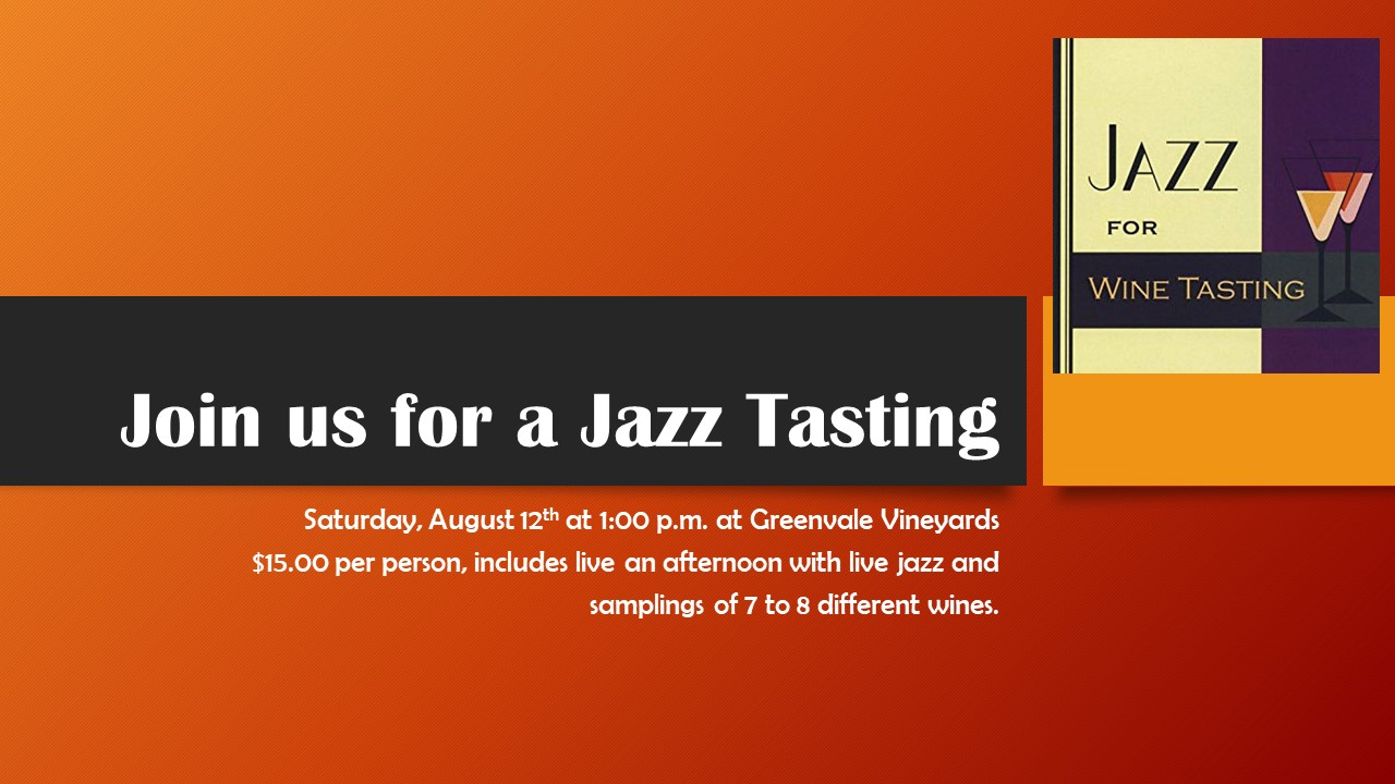 join us for a jazz tasting